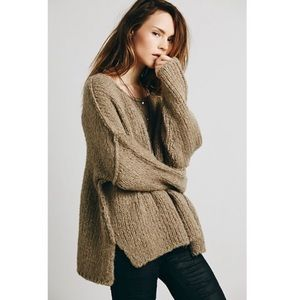 Free People Teddy Bear Pullover Sweater